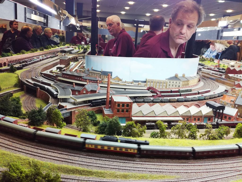 Large model train layout